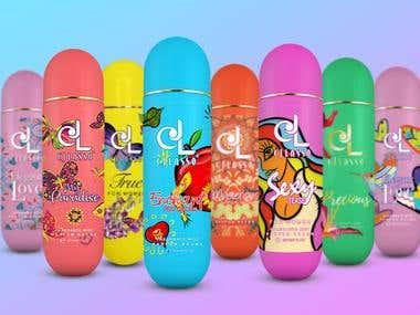 CJ Lasso Perfume Labels