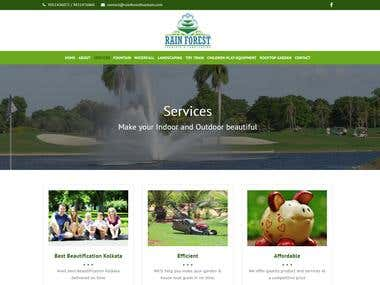 Responsive website for a fountain company