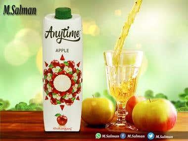 Social Media Banner For Anytime Juice....