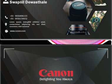 Canon Visiting Card