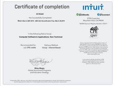 QBO Advanced Training Certificate