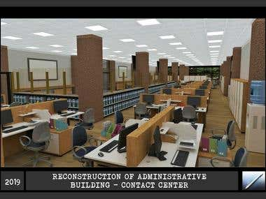 RECONSTRUCTION OF ADMINISTRATIVE BUILDINGS - CONTACT CENTER