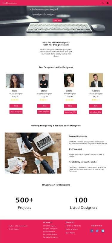 Freelance Designer Portal