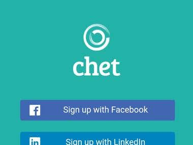 Chet: A Business Networking App