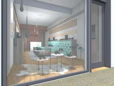 2015-Interior design-Shoes Store
