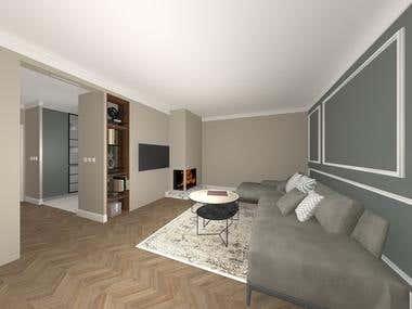 2018-Interior design-Kitchen/living room