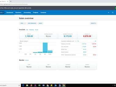 Xero Demo Company Sales Overview