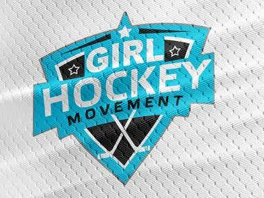 Girl Hockey Movement Logo Design