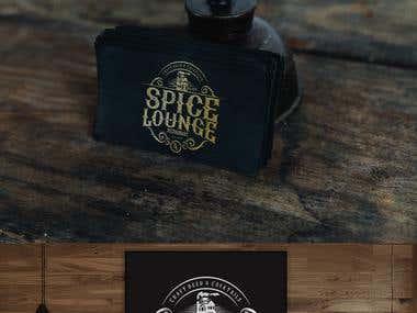 Spice Lounge Restaurant Logo Vintage Classy