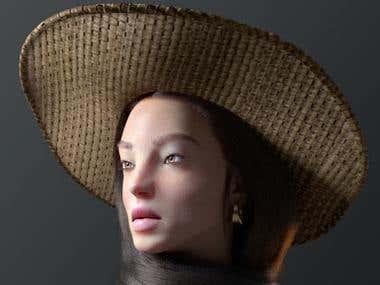 3d china face