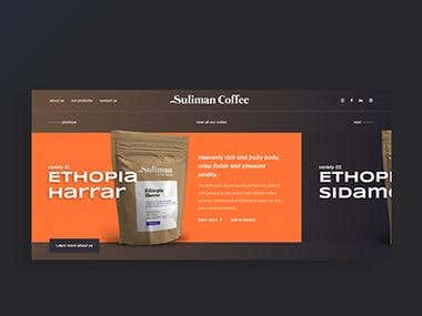 Suliman Coffee Website Concept