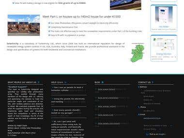Wordpress Website: Solartricity.ie