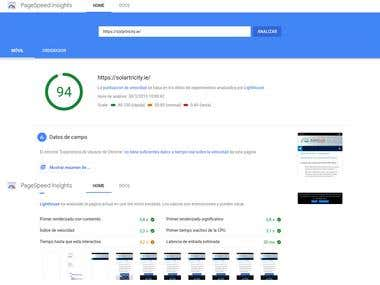 Test with PageSpeed Insight on Solartricity.ie