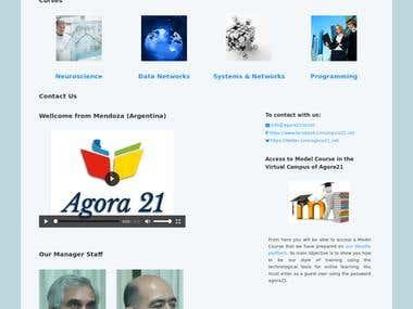 Ecommerce website Agora21ist.net