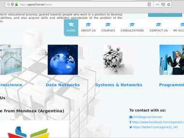 Design of Agora21ist.net