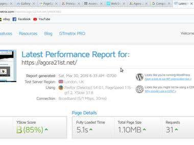 Performance Test - Agora21ist.net