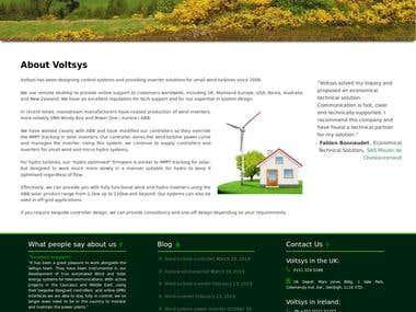 Design and development for Voltsys.com