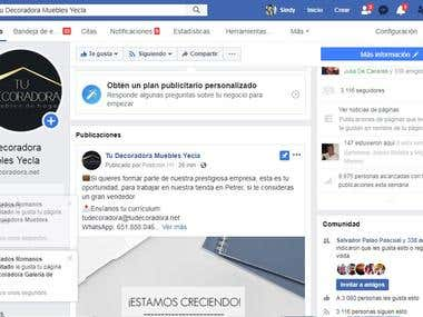 Administradora y diseñadora de Redes sociales para España
