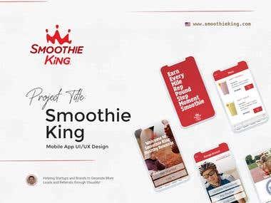 """Smoothie King"" Mobile App UI/UX Design"