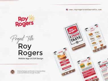 """Roy Rogers"" Mobile App UI/UX Design"