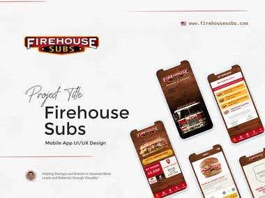 """Firehouse Subs"" Mobile App UI/UX Design"