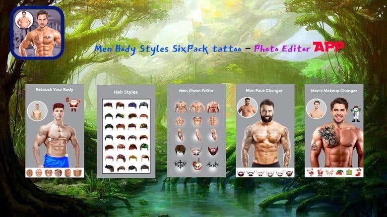 Men Body Styles SixPack tattoo - Photo Editor APP   Freelancer