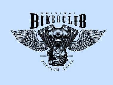 Motorcycle Bykerclub logotipo