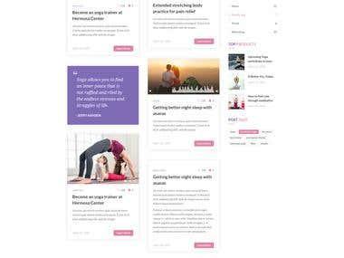 yoga website