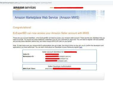 Amazon AWS/MWS key.