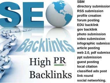 Off page SEO fully backlink linkbuilding