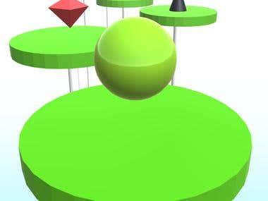 Splashy Ball: Jump on Spiky Tiles (Android game)