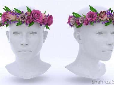 3D Flower Crown