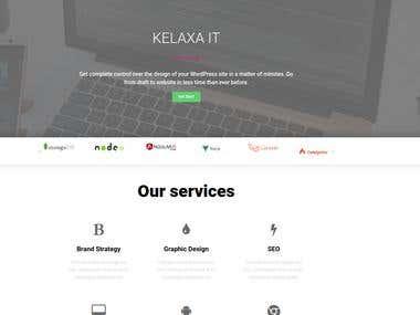 Kelaxa IT - IT Company Word Press Website