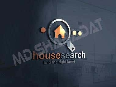 house search logo template