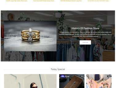 Fashion & Jewelry Online Store