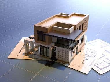 Modern house (blueprints)