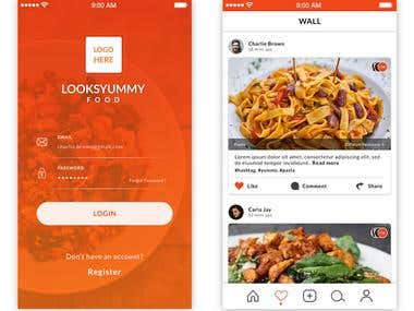 Food and Recipe Mobile App Design