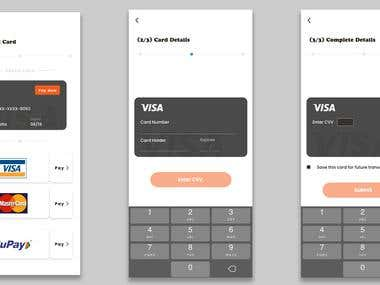UI/UX card payment steps