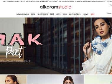 Alkaram Studio Online Shop(Exact Clone)