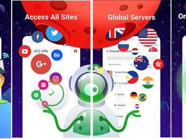 UFO VPN clone app (Android & iOS)