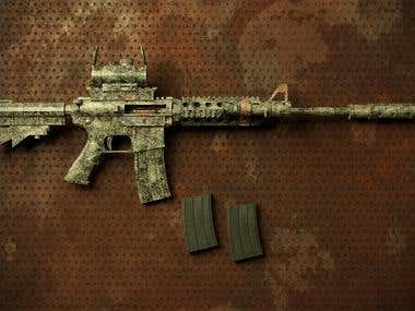 M4 Carbine Gun Design