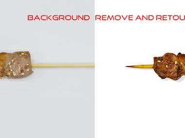 BACKGROUND REMOVIE AND DETAIL RETOUCH COLOR CORREECTION