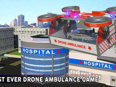 Drone Ambulance Simulator: Helicopter Rescue Pilot