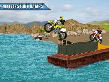 Water Surfer Dirt Bike Race 3D