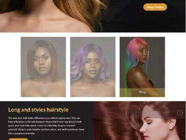 Wigs Selling website