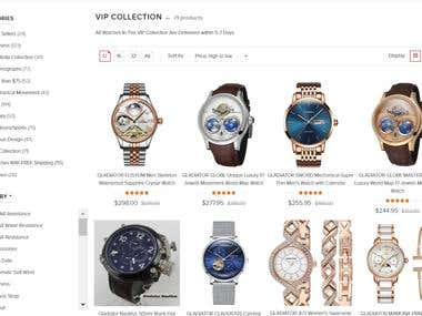 Administrative on Watch Store (Shopify)