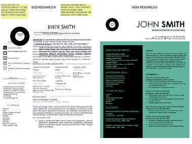 Resume Redesign and Rewrite