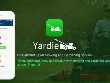 Yardie : On Demand Lawn Mowing and Gardening Service