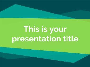 Powerpoint presentation (PPT)