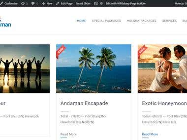 Travel and Tourism Website